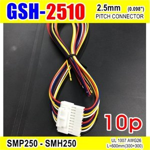 "[GSH-2510] SMP250-SMH250-10p 2.5mm(0.098"")pitch connector L=600mm (300+300)"