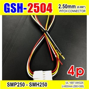 "[GSH-2504] SMP250-SMH250-4p 2.5mm(0.098"")pitch connector L=600mm (300+300)"