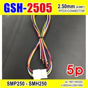 "[GSH-2505] SMP250-SMH250-5p 2.5mm(0.098"")pitch connector L=600mm (300+300)"
