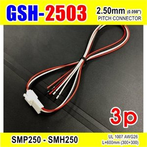 "[GSH-2503] SMP250-SMH250-3p 2.5mm(0.098"")pitch connector L=600mm (300+300)"